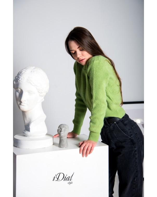 Женская кофта 111 iDial style зеленая кашемир
