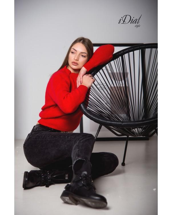 Кофта женская 111 iDial style красная кашемир