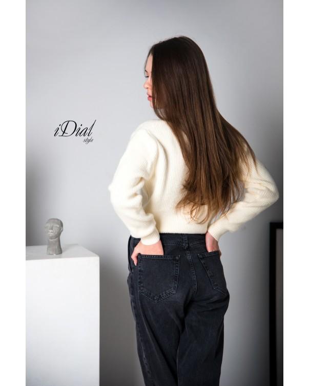 Женская кофта 111 iDial style молочная кашемир