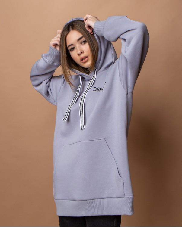 Худи Оверсайз iDial style серый 405-1