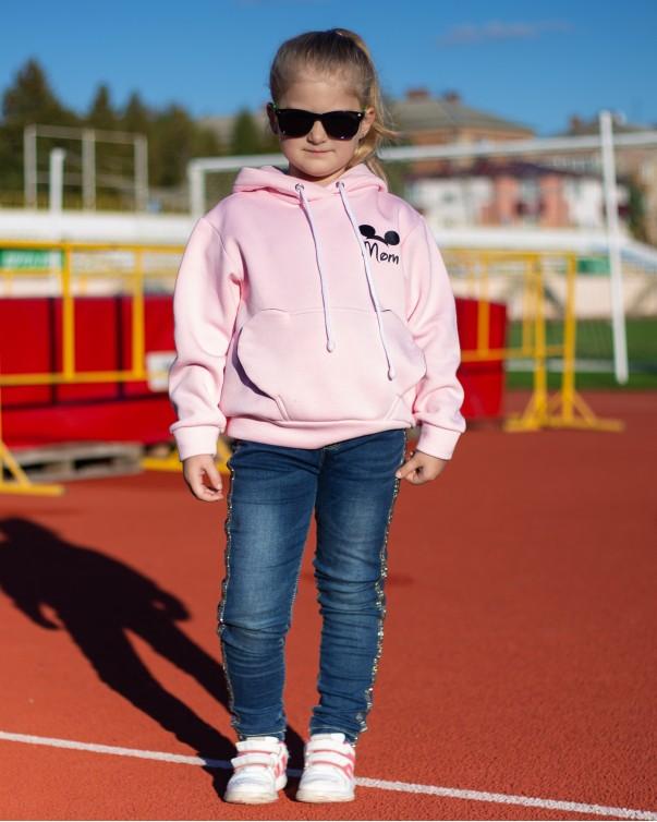 Худи iDial style Мики розовый