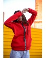 Женская кофта 431 iDial style красная на флисе
