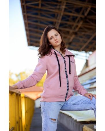 Женская кофта 431 iDial style розовая на флисе