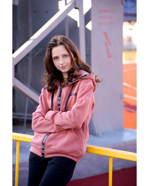 Женская кофта 431 iDial style на флисе
