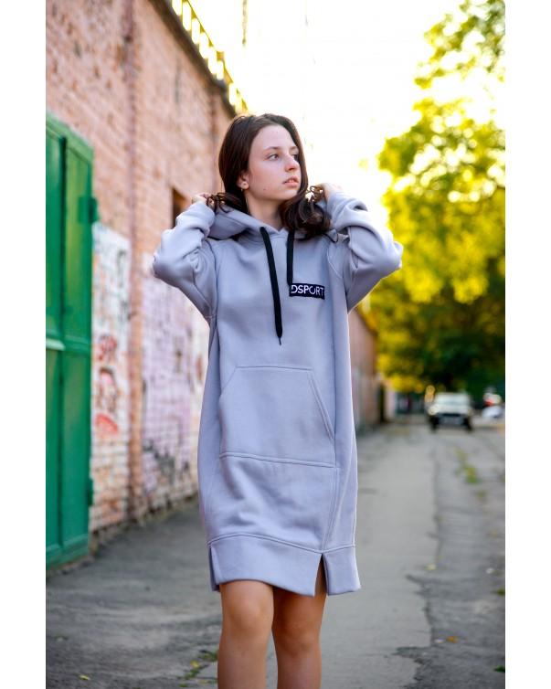Женское платье-худи 428 iDial style лаванда