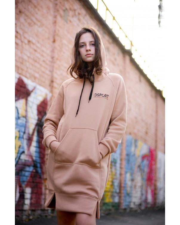 Женское платье-худи 428 iDial.style бежевый
