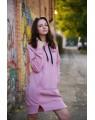 Женское платье-худи 428 iDial style PINK