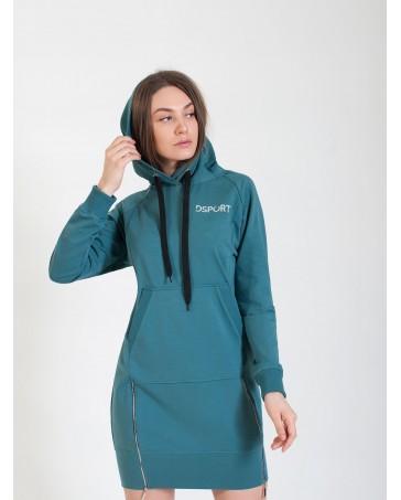 Спортивное платья iDial style бирюзовое 409