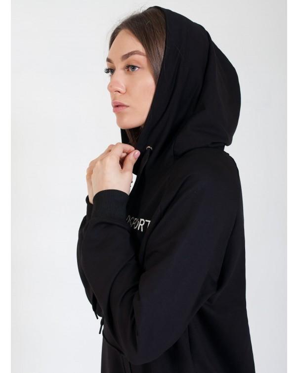 Спортивное платья iDial style черное 409